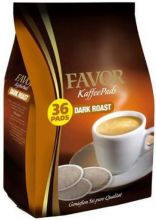 36 Favor coffee pods dark roast